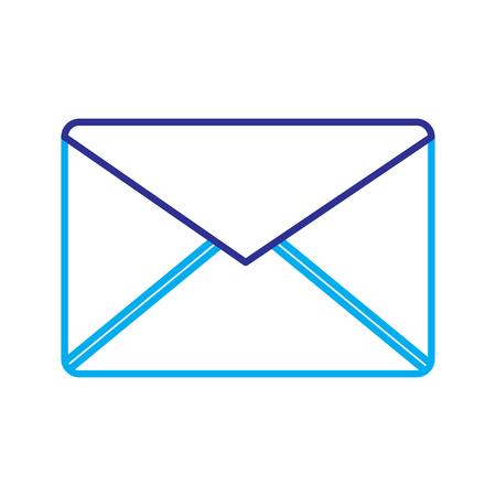 email envelope message internet symbol vector illustration blue purple line image