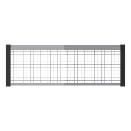 テニスネットアイコン画像ベクトルイラストデザイン