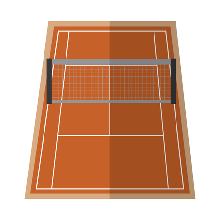 tennis court  icon image vector illustration design  Ilustrace