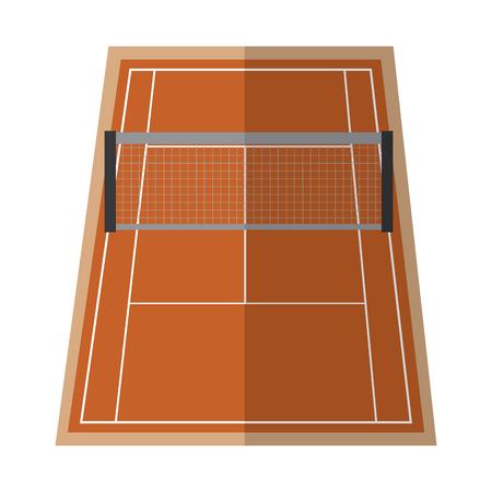 Tennisplatz Symbol Bild Vektor-Illustration Design Standard-Bild - 92184790