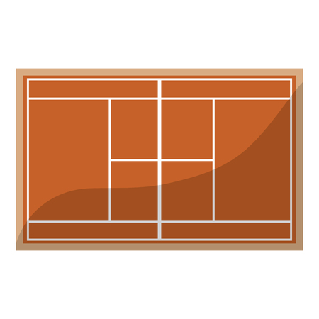tennis court topview   icon image vector illustration design  Stock Illustratie