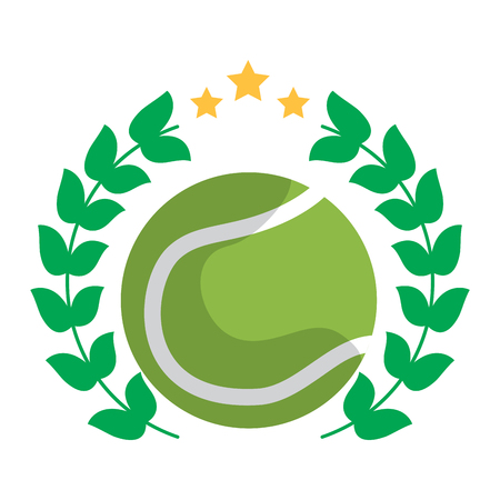 tennis ball emblem image vector illustration design