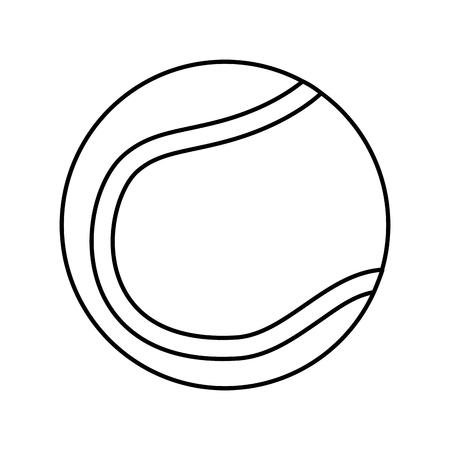 Tennisbal pictogram afbeelding vector illustratie ontwerp