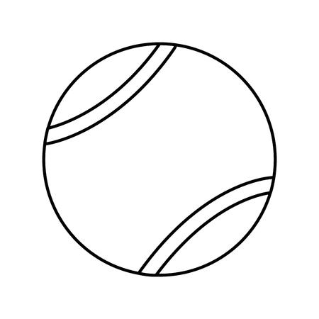 tennisbal pictogram afbeelding vector illustratie ontwerp Stock Illustratie