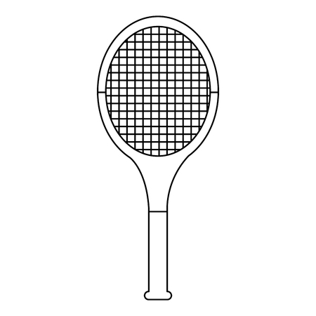 tennis racquet icon image vector illustration design