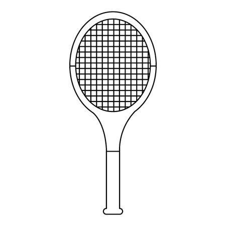 tennisracket pictogram afbeelding vector illustratie ontwerp