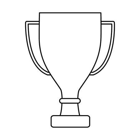 trofee cup pictogram afbeelding vector illustratie ontwerp Stock Illustratie