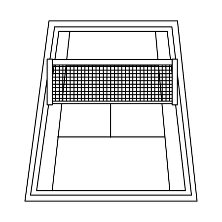 tennis court  icon image vector illustration design  向量圖像