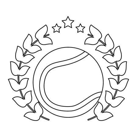 tennis ball emblem image vector illustration design