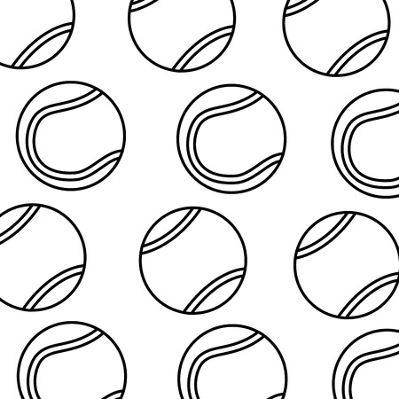 テニスボールパターン画像ベクトルイラストデザイン