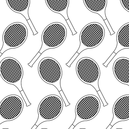 tennis racquets pattern image vector illustration design