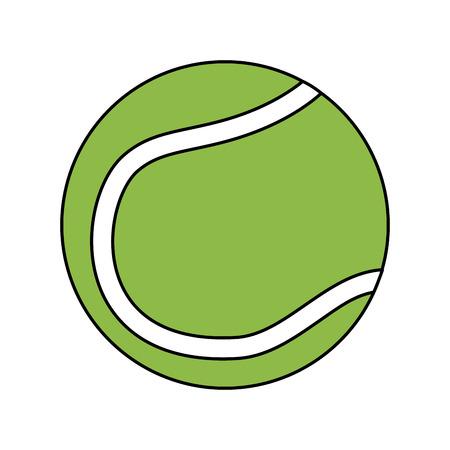テニスボールアイコン画像ベクトルイラストデザイン
