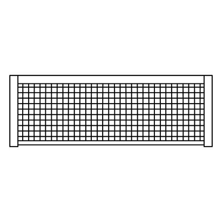 tennis net icon image vector illustration design