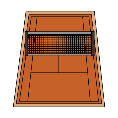 tennis court  icon image vector illustration design  Illustration