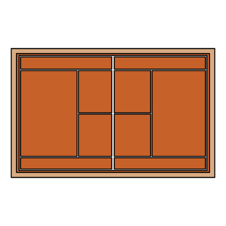 tennis court topview   icon image vector illustration design  Illustration