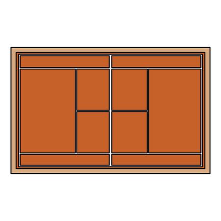 tennis court topview   icon image vector illustration design  Çizim