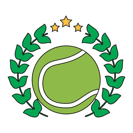 tennisbal embleem afbeelding vector illustratie ontwerp