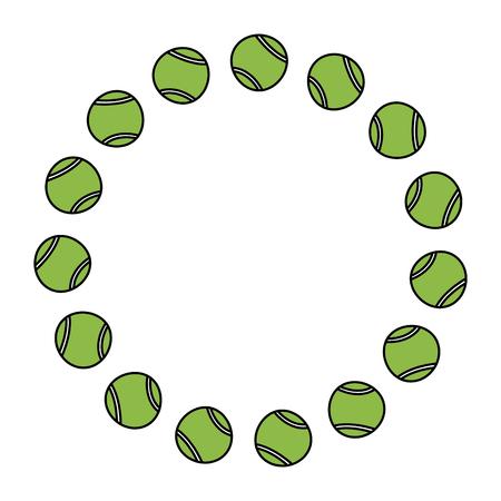 tennis balls circle emblem image vector illustration design