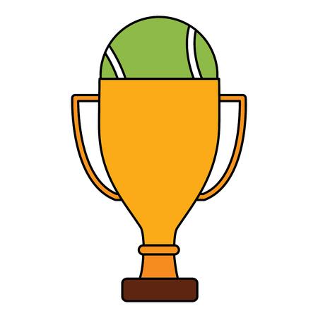 trophy with  tennis ball  icon image vector illustration design  Ilustração