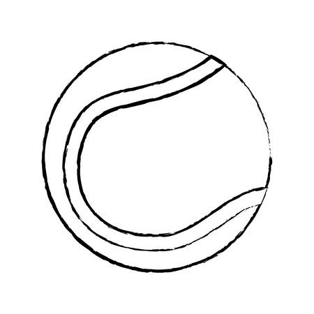 tennisbal pictogram afbeelding vector illustratie ontwerp zwarte schets lijn Stock Illustratie