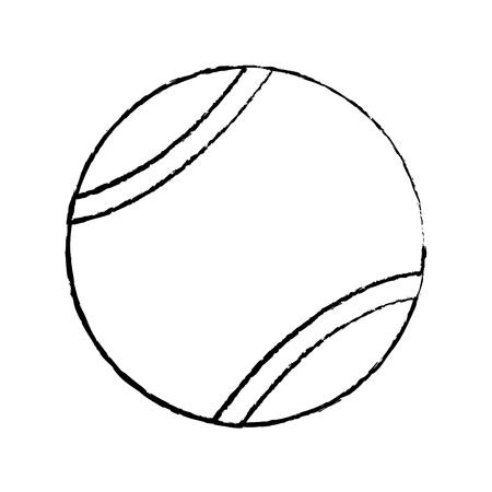 tennis ball icon image vector illustration design  black sketch line