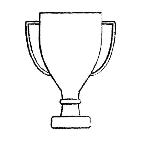 trophy cup icon image vector illustration design  black sketch line