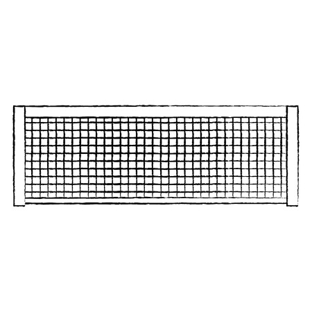 tennis net icon image vector illustration design  black sketch line Ilustração
