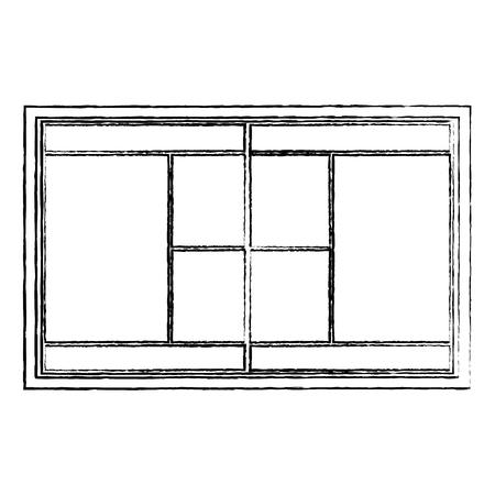 tennisbaan bovenaanzicht pictogram afbeelding vector illustratie ontwerp zwarte schets lijn