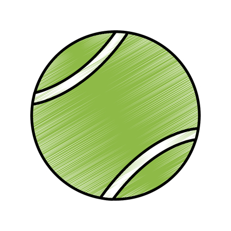 tennis ball icon image vector illustration design  sketch style Ilustração