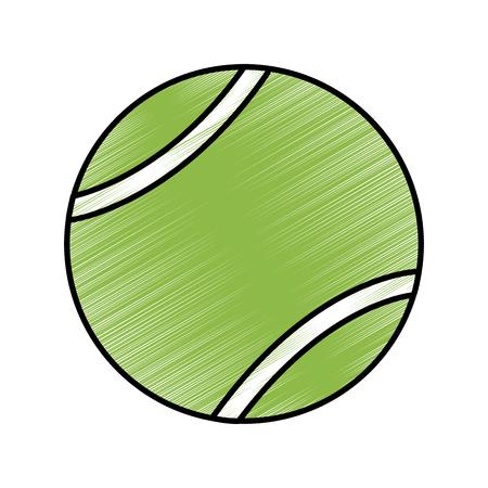 tennisbal pictogram afbeelding vector illustratie ontwerp schets stijl