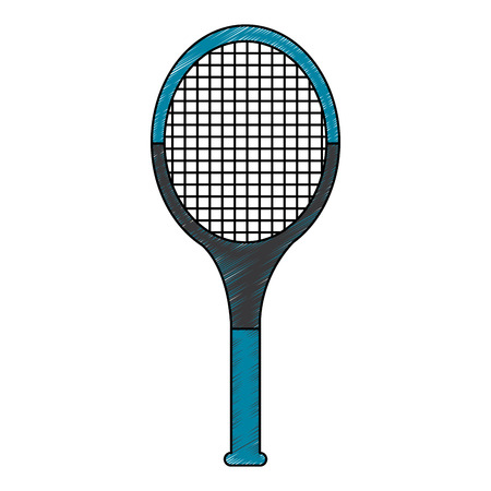 tennis racquet icon image vector illustration design  sketch style