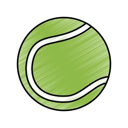 tennis ball icon image vector illustration design  sketch style Ilustrace