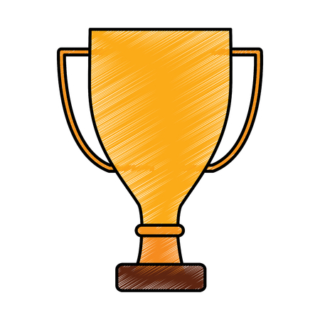 trophy cup icon image vector illustration design  sketch style
