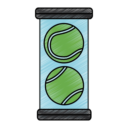 tennis balls pack icon image vector illustration design  sketch style 向量圖像
