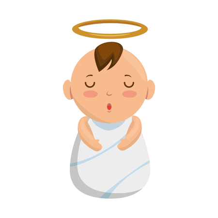 jesus baby avatar character vector illustration design