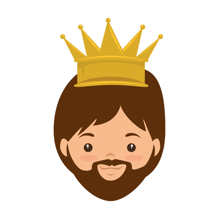 Cute king wizard christmas avatar illustration design.