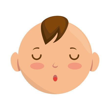 Projeto da ilustração do caráter do avatar da cara do bebê. Foto de archivo - 92191333