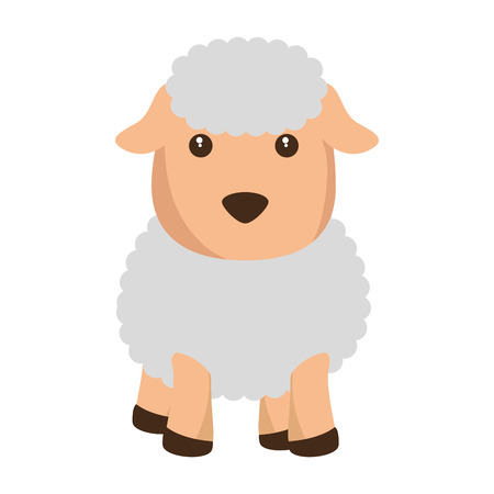 Cute sheep character icon illustration design. Stock Vector - 92191662