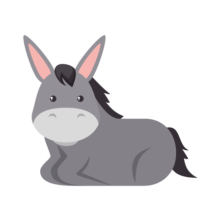Cute mule character icon illustration design. Illustration