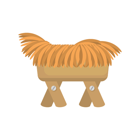 Cradle of straw isolated icon illustration design.