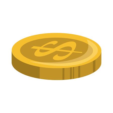 동전 돈 격리 아이콘 그림 디자인입니다. 일러스트