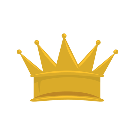 King crown isolated icon illustration design.