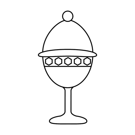 Chalice cup isolated icon illustration design