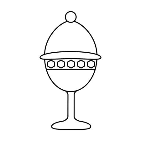 De illustratieontwerp van het miskelkkop geïsoleerd pictogram Stock Illustratie