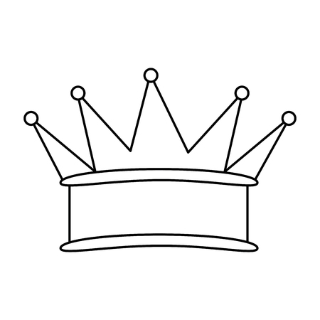 king crown isolated icon vector illustration design Stock fotó - 92200030