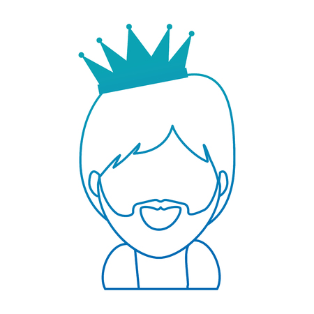 cute king wizard christmas avatar vector illustration design