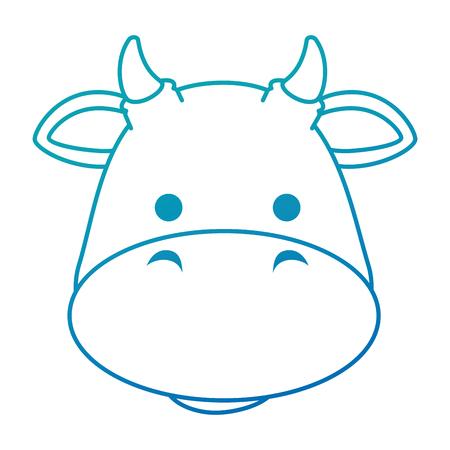 cute ox character icon vector illustration design 版權商用圖片 - 92192448