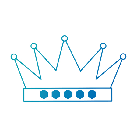king crown isolated icon vector illustratie ontwerp