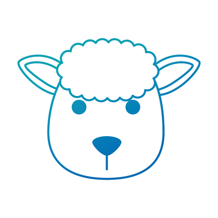 cute sheep character icon vector illustration design Stock Vector - 92192728