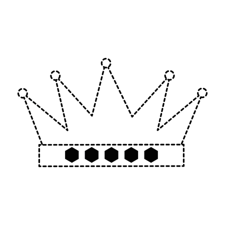king crown isolated icon vector illustration design Stock Vector - 92193101